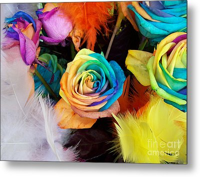 Tie Dyed Roses In Japan Metal Print by Cheryl McClure