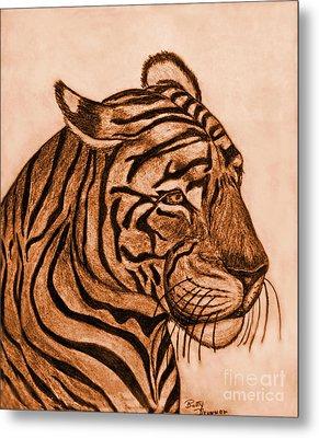 Tiger IIi Metal Print by Debbie Portwood