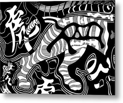 Tiger Legs Metal Print