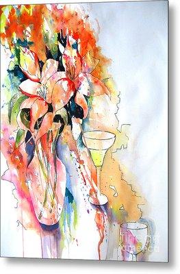 Tiger Lilies Metal Print by Vicki Brevell
