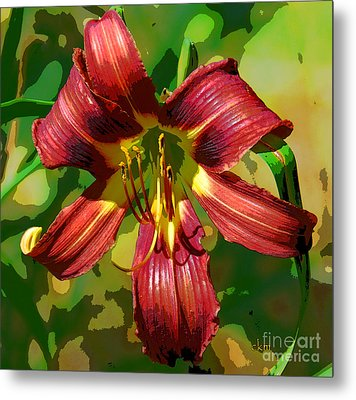 Metal Print featuring the photograph Tiger Lily by Cindy Manero