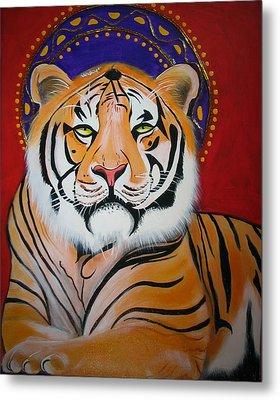 Tiger Saint Metal Print by Christina Miller