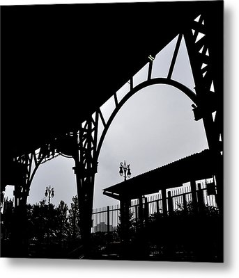 Tiger Stadium Silhouette Metal Print by Michelle Calkins