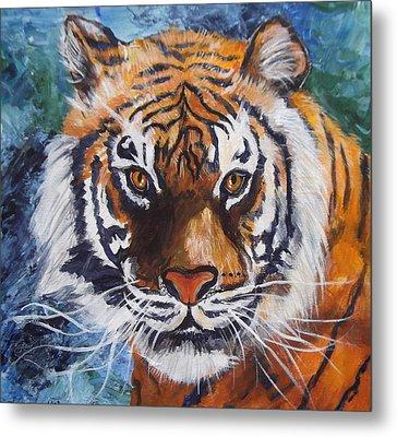 Tiger Metal Print by Trudy Morris