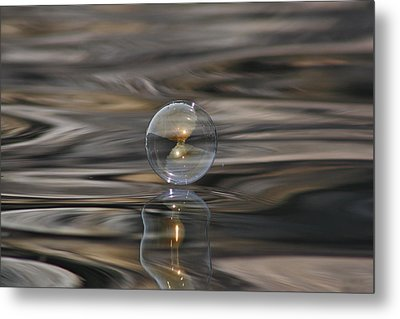 Tiger Water Bubble Metal Print by Cathie Douglas