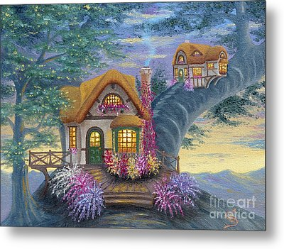Tig's Cottage From Arboregal Metal Print