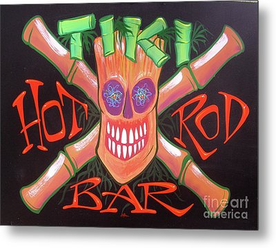 Tiki Hot Rod Bar Metal Print