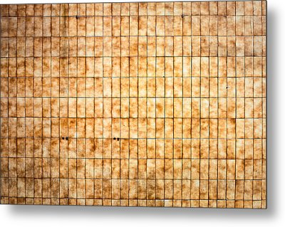 Tiled Wall Metal Print by Tom Gowanlock