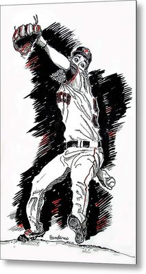 Metal Print featuring the painting Tim Lincecum by Terry Banderas