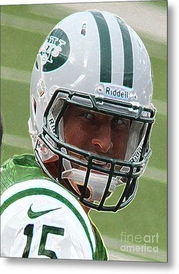 Tim Tebow Art Deco IIi - New York Jets -  Metal Print by Lee Dos Santos