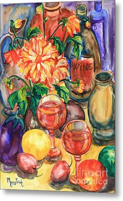 Time For Wine Metal Print by Phong Trinh