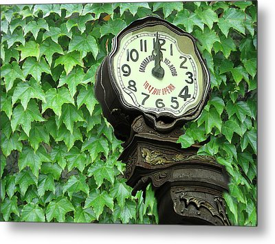 Time In Green Metal Print