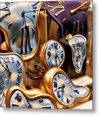 Time Is Melting Away #clocks #clocks Metal Print