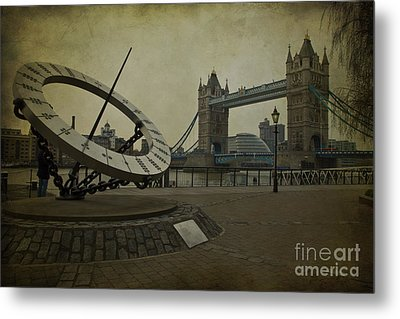 Metal Print featuring the photograph Timepiece. by Clare Bambers