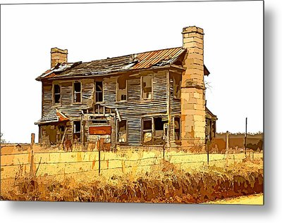 Times Past Abstract Metal Print by Marty Koch