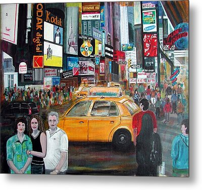 Metal Print featuring the painting Times Square by Anna Ruzsan