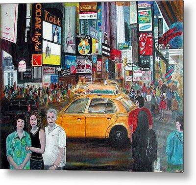 Times Square Metal Print by Anna Ruzsan