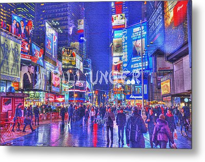 Times Square Metal Print by Bill Unger