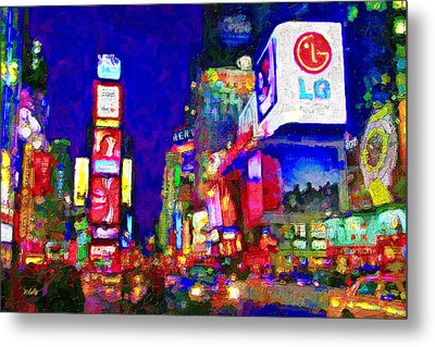 Times Square Metal Print by Michael Petrizzo