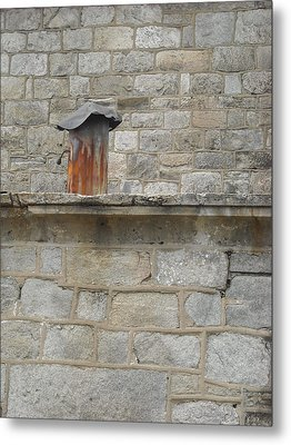 Metal Print featuring the photograph Tin Chimney by Christophe Ennis