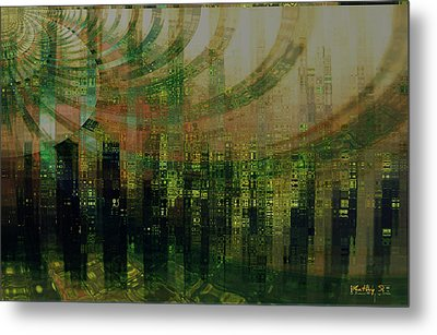 Tin City Metal Print by Kathy Sheeran