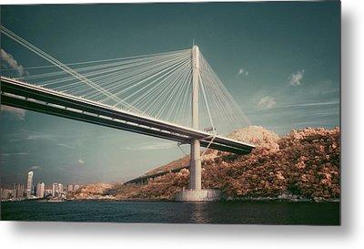 Ting Kau Bridge Metal Print by Yiu Yu Hoi