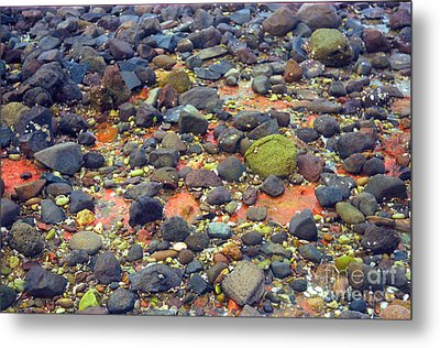Metal Print featuring the photograph Tinopoi Beach Rocks by Mark Dodd
