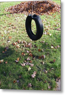 Tire Swing Metal Print by Todd Sherlock