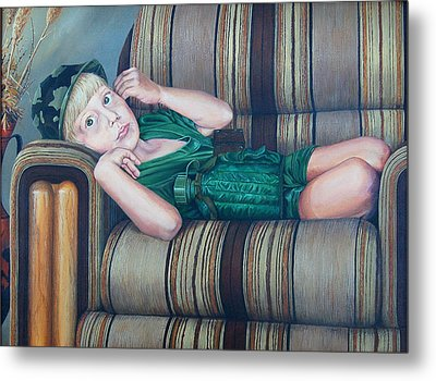 Tired Warrior Metal Print by AnnaJo Vahle
