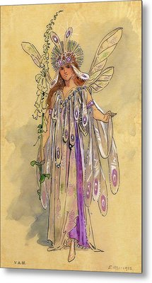 Titania Queen Of The Fairies A Midsummer Night's Dream Metal Print