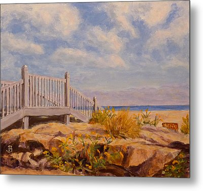 Metal Print featuring the painting To The Beach by Joe Bergholm