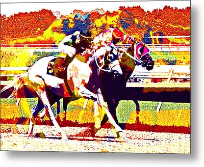 Metal Print featuring the photograph To The Finish by Alice Gipson