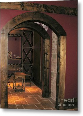 To The Wine Cellar Metal Print