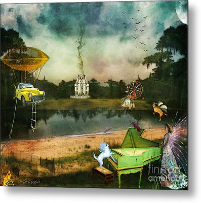 Metal Print featuring the digital art To Wish Impossible Things by Rhonda Strickland