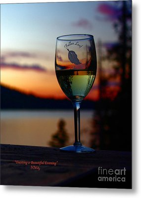 Toasting A Beautiful Evening Metal Print