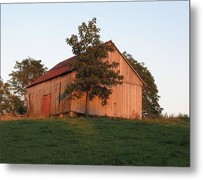 Tobacco Barn II In Color Metal Print