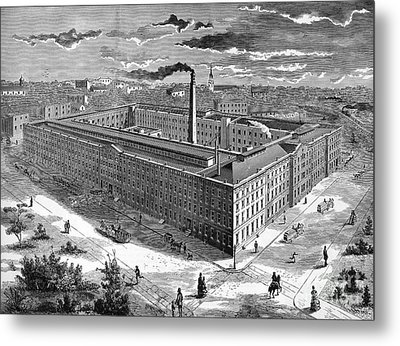 Tobacco Factory, 1876 Metal Print by Granger