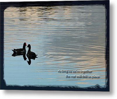 Metal Print featuring the photograph Together by Steven Sparks