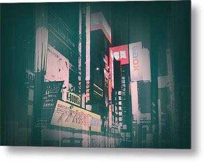 Tokyo Lights Metal Print by Naxart Studio