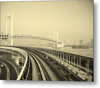Tokyo Metro Ride Metal Print by Naxart Studio