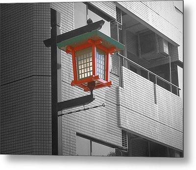Tokyo Street Light Metal Print by Naxart Studio