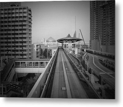 Tokyo Train Ride 1 Metal Print by Naxart Studio