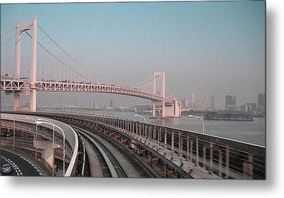 Tokyo Train Ride 4 Metal Print by Naxart Studio