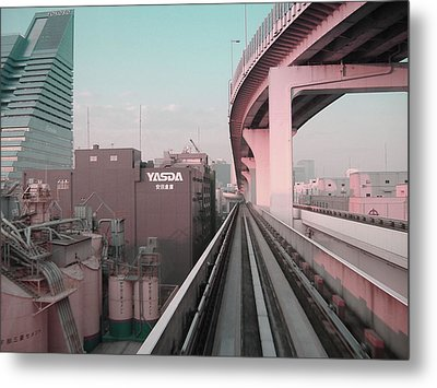 Tokyo Train Ride 5 Metal Print by Naxart Studio