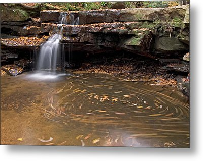 Metal Print featuring the photograph Tolliver Falls by Jeannette Hunt