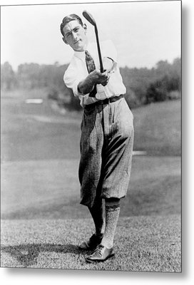 Tom Armour Wins Us Golf Title - C 1927 Metal Print by International  Images