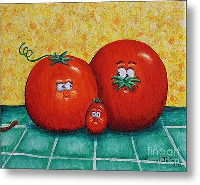 Tomato Family Portrait Metal Print by Jennifer Alvarez