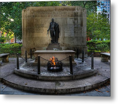 Tomb Of The Unknown Revolutionary War Soldier II - George Washington  Metal Print by Lee Dos Santos