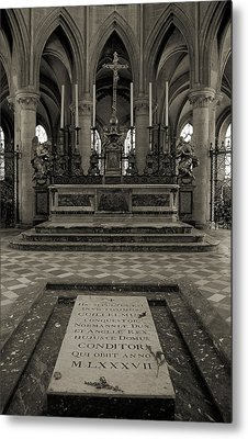 Tomb Of William The Conqueror Metal Print by RicardMN Photography