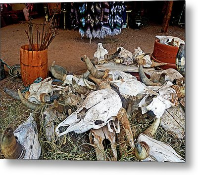 Metal Print featuring the photograph Tombstone Treasures by Helen Haw